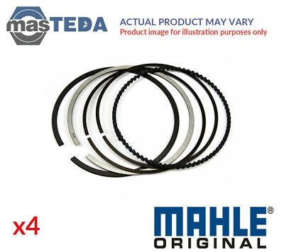 4x Engine Piston Ring Set Mahle Original 011 06 N0 I New Oe Replacement