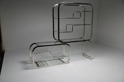 Chrome And Glass étagère By Design Institute Of America Mid-century Modern