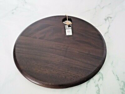 """Williams - Sonoma Be Home Dark Wood Round Cutting Board Cheese Board 15"""" New Tg"""