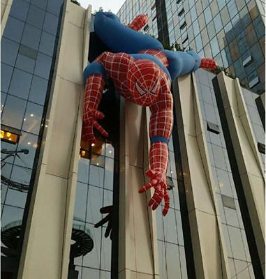 Inflatable Spiderman Cartoon Giant Inflatable Cartoon Outdoor Advertising 8m Ax