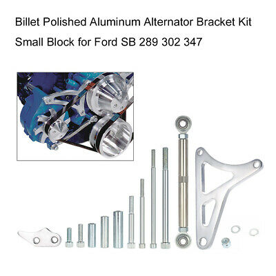 Aluminum Polished Alternator Bracket Kit Small Block Windsor For Ford 351w I4c9