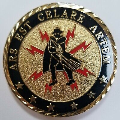 Vhtf Cia Ccg Covert Communications Group Challenge Coin Epoxy Clear Coat Finish