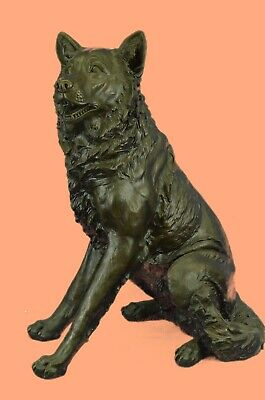 German Shepherd K-9 Police Dog Bronze Sculpture Museum Quality Artwork Statue