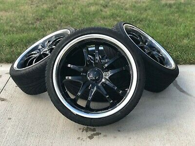 18 Inch Rims And Tires -msr Black Rims (style 085) Like New Tires + Hardware