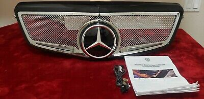 Mercedes Benz E-class Strut Collection Lighted Led Mesh Grille - Customized