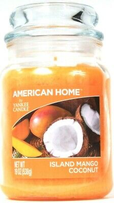 1 Count American Home By Yankee Candle 19 Oz Island Mango Coconut Glass Candle