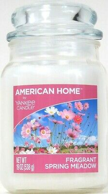 American Home By Yankee Candle 19 Oz Fragrant Spring Meadow 1 Wick Glass Candle