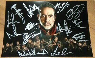 The Walking Dead Cast Signed Autographed Photo Andrew Lincoln Norman Reedus