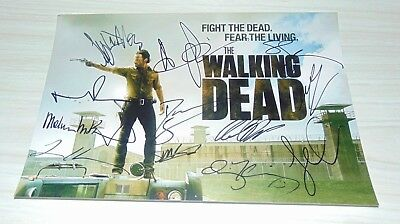 The Walking Dead Cast Signed Autographed Photo Andrew Lincoln Norman Coa