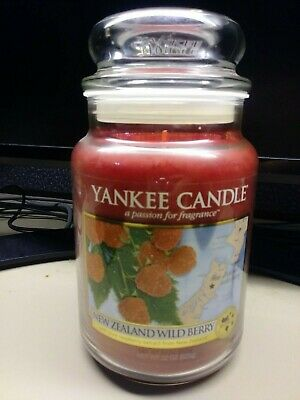 Yankee Candle Journeys New Zealand Wild Berry 22oz  Super Rare New Raspberry