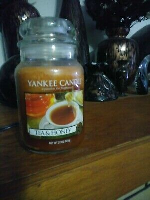 Yankee Candle Tea & Honey Rare 22oz 22 Oz Jar Candle New Never Lit Vhtf