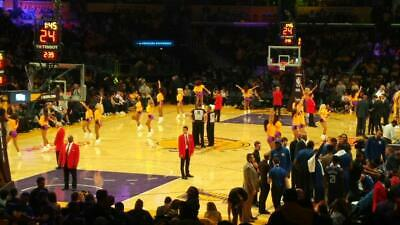Four 4 Lakers Tickets Lower Section 106 Row 18 Vs Houston Rockets Staples Center