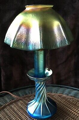 Tiffany Studios  Favrile  Art Nouveau Candle Lamp