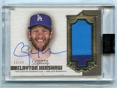 2019 Topps Dynasty Clayton Kershaw Patch Auto Autograph 10/10