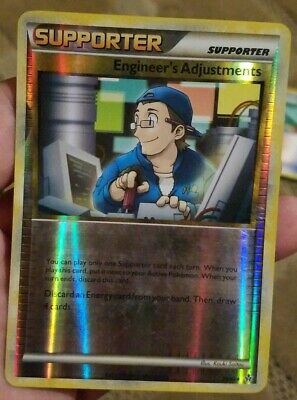 Pokemon HS Unleashed Engineer's Adjustments 75/95 Reverse Foil Fast Shipping!