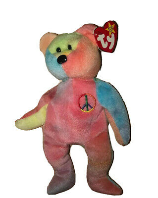 *rare And Retired* Ty Peace Bear 1997 Mint Condition, With Tag Errors