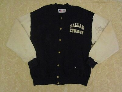 Russell Athletic 90s 93 Dallas Cowboys Jacket Signed Daryl Moose Johnston #48 L
