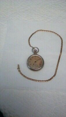 Antique R. H. Ingersoll Yankee  Pocket Watch & Guarantee Label/12-22-14/signed.
