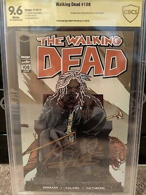 Walking Dead 108 Signed By Khary Payton. 1st Appearance Of Ezekiel And Shiva