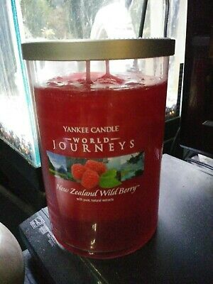 Yankee Candle World Journeys New Zealand Wild Berry Super Rare New 20 Oz