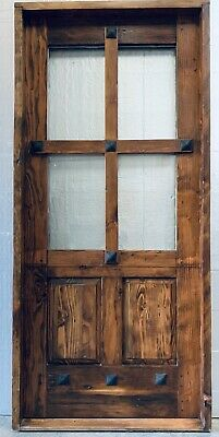 Rustic Reclaimed Lumber Square Top Door Solid Wood Story Book In Stock Dutch