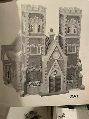 Dept 56 Christmas In The City Cathedral Church Of St Mark 55492 Le #190 Rare