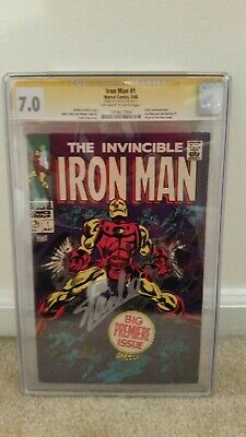 Invincible Iron Man 1 Cgc Ss 7.0 Signed By Stan Lee - Silver Age Marvel Key