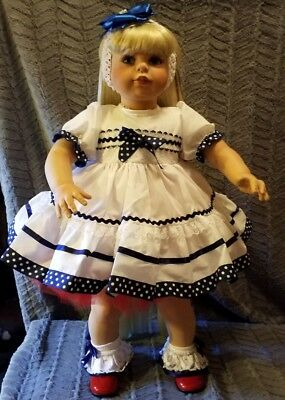 "Vintage-virginia E. Turner ""doll 32""tall ""cherrie"" Yankee Doodle Dandi Girl"
