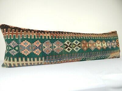 Patio Bench Garden Kilim Cushion Woven Wool Throw Pillow Bed Couch 18
