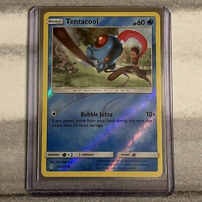 SHIPS SAME DAY Tentacool 40/214 Reverse Holo Unbroken Bonds Pokemon Near Mint
