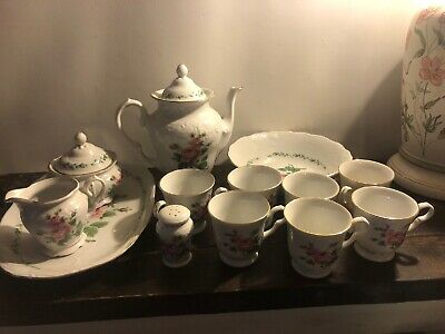 Gibson Housewares Dinnerware China Floral Tea Set Mixed Lot