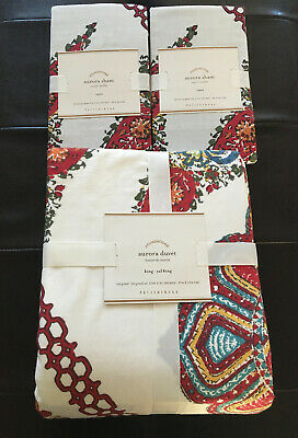 Pottery Barn Aurora Bohemian King/cal Duvet Cover & (2) Euro Shams $327 Sold Out