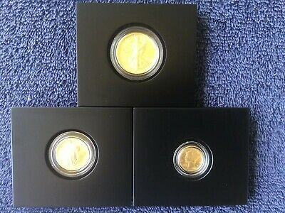 3 X 2016 W ( West Point ) Us Mint .9999 Fine Gold Centennial Gold Coins