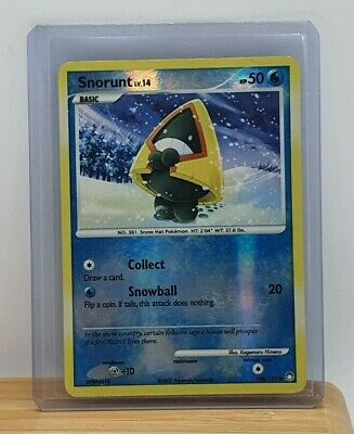 Snorunt Reverse Holo Pokemon Card Diamond & Pearl Mysterious Treasures #100 LP