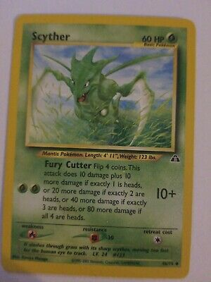 SCYTHER - Neo Discovery Set - 46/75 - Uncommon - Pokemon Card - Unlimited - NM