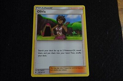 Pokemon OLIVIA Sun & Moon Burning Shadows 119/147 NM/Mint Never Played Cards