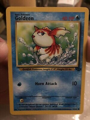 Goldeen 53/64 Jungle Set Near Mint Pokemon Card