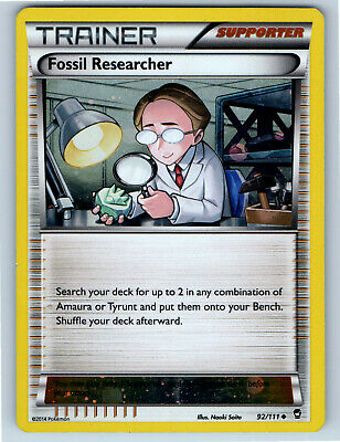 Furious Fists Holo Promo Fossil Researcher 92/111 Pokemon Trading Card MP / HP