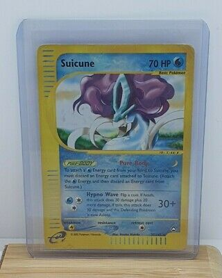 Suicune Reverse Holo / Shiny Pokemon TCG Card Aquapolis 37/147 Moderate Play
