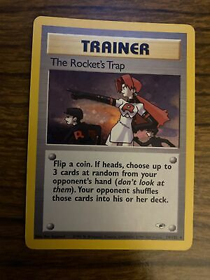 Pokemon - The Rocket's Trap (Trainer) - HoloFoil Rare! - Gym Heroes 19/132