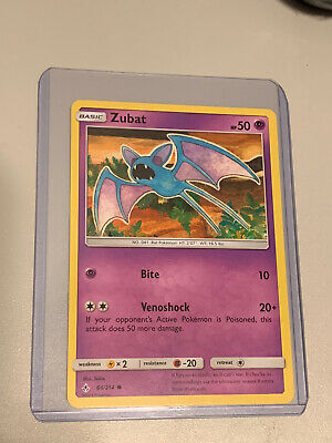 Zubat 64/214 - Common Pokemon Card - Unbroken Bonds 2019 - NM