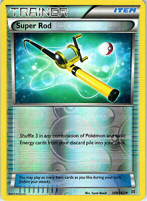 BREAKthrough Super Rod 149/162 Reverse Holo Pokemon Trading Card LP NM