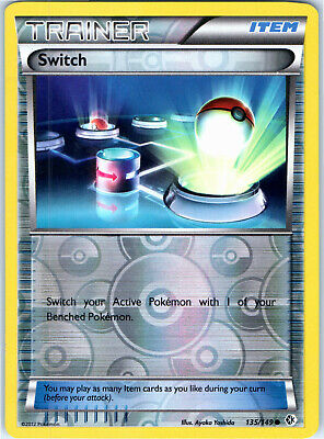 Boundaries Crossed Reverse Holo Switch 135/149 Pokemon Trading Card LP NM