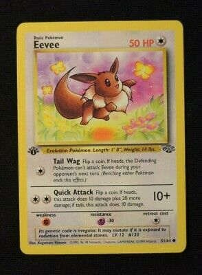 Eevee - Jungle - 51/64 - Common - Pokemon Card - First Edition - NM