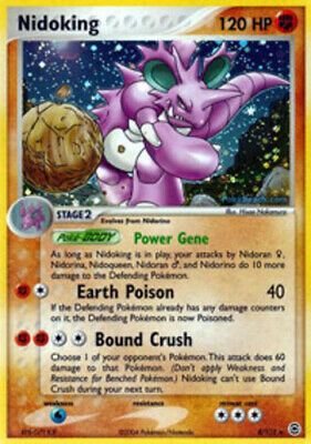 Pokemon Nidoking 8 EX FireRed & LeafGreen Holo Rare Heavily Played Fast Shipping