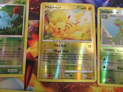 Pokemon Patinum Arceus Reverse holo Pikachu and others
