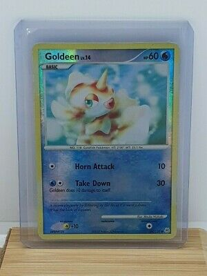 Goldeen Reverse Holo / Shiny Pokemon Card Diamond & Pearl 84/130 Moderate Play