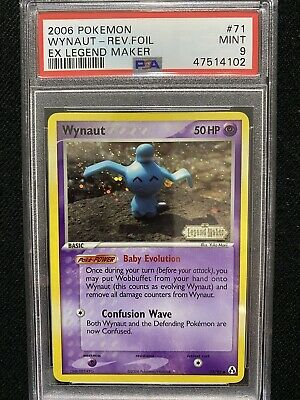 2006 Pokemon EX Legend Maker Wynaut Reverse Foil 71/92 PSA 9 Mint