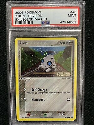 2006 Pokemon EX Legend Maker Aron Reverse Foil 48/92 PSA 9 Mint