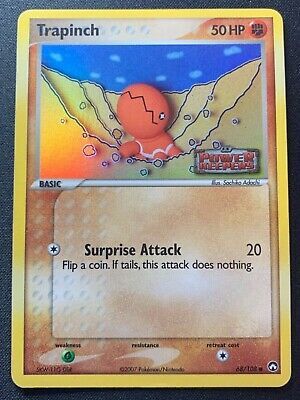 2007 Pokemon TRAPINCH Holo 68/108 EX POWER KEEPERS - RARE Stamped Set!! Near-MT